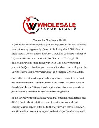 Wholesale vapor liquids