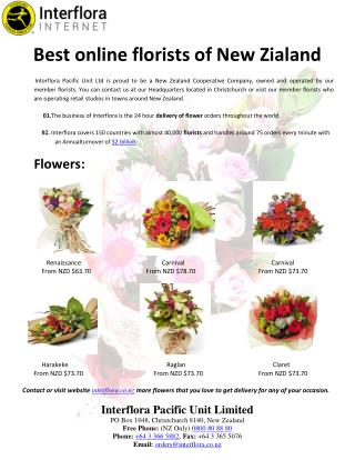 Best online florists of New Zialand