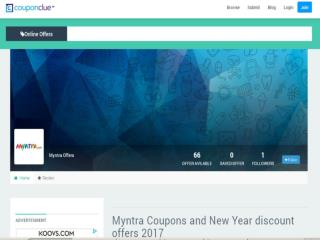 Myntra Coupon Clue Offers