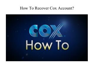 How to recover coxaccount?