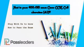 Passleaders 400-051 Certification Exam