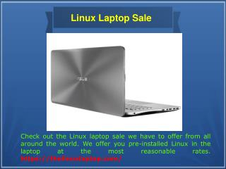 Laptop with Linux Os