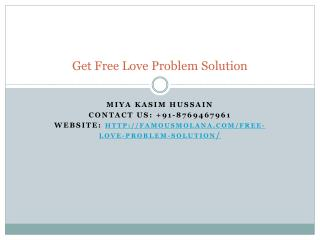 Get Free Love Problem Solution
