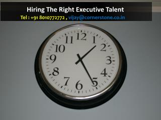 Hiring The Right Executive Talent