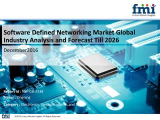 Software Defined Networking Market Industry Analysis, Trend and Growth, 2016-2026