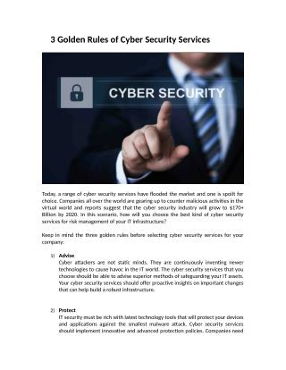 Cyber Security Services USA
