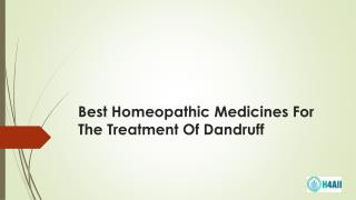 Best Homeopathic Medicines For The Treatment Of Dandruff