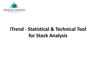 iTrend - Statistical & Technical Tool for Stock Analysis
