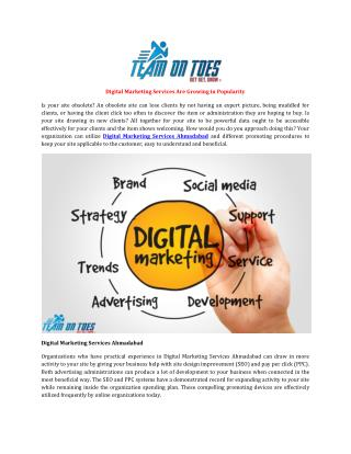 Digital Marketing Services Are Growing in Popularity