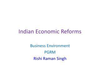 Indian Economic Reforms