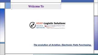 ASAP Logistic Solutions - Leading Aviation Electronic Parts Supplier