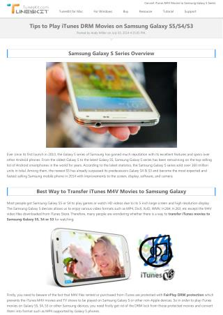 How to Transfer iTunes DRMed Videos to Samsung Galaxy?