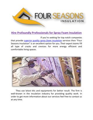 Quality Spray Foam Insulation at Low Cost
