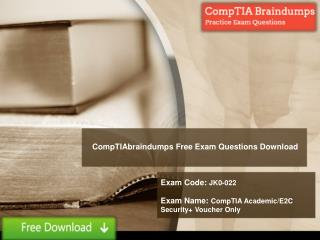 Free JK0-022 Real Exam Questions Answers