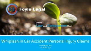 Whiplash in Car Accident Personal Injury Claims
