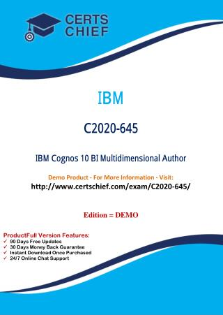 C2020-645 Exam Training Material