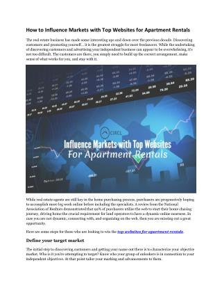 How to Influence Markets with Top Websites for Apartment Rentals