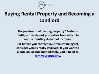 Buying Rental Property and Becoming a Landlord