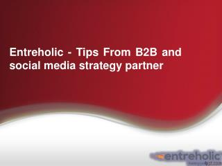 Entreholic - Tips From B2B and Social Media Strategy Partner
