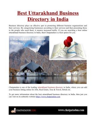 Best Uttarakhand Business Directory in India