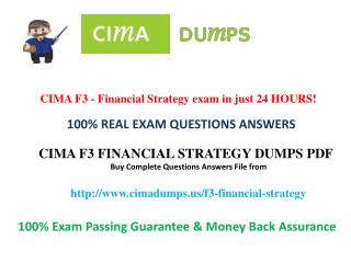 how to pass cima f3 exam dumps question in first attempt? - Cimadumps.us