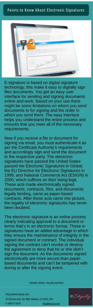 Basic Things About e-Signatures