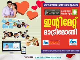 online matrimony kerala -Intimate matrimony 2017
