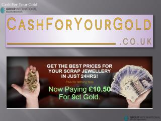 Sell Your Precious Metals Gold, Silver, Platinum and Palladium at Cash For Your Gold