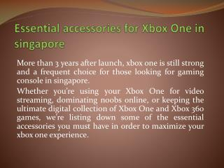 Essential accessories for Xbox One in singapore