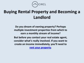 Buying Rental Property and Becoming a Landlord | CIRCL