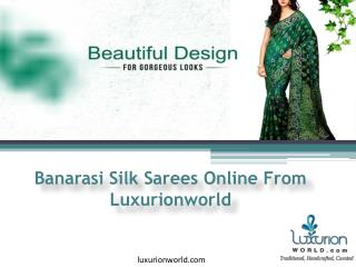 Buy Designer Bandhej Banarasi Saris - Luxurionworld