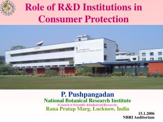 Role of R&D Institutions in Consumer Protection