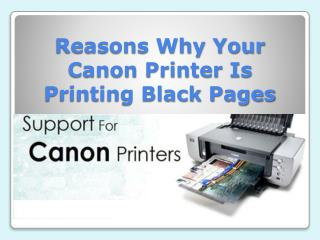 Reasons Why Your Canon Printer Is Printing Black Pages