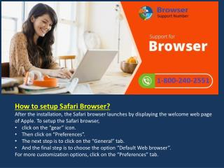 How to Install Setup Configure Safari Browser 18002402551 Call Technical Support Phone Number