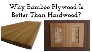 `Why Bamboo Plywood Is Better Than Hardwood?