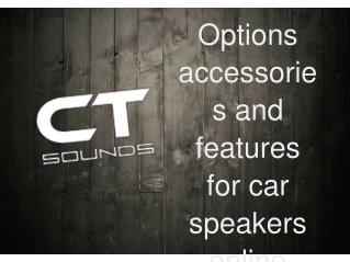 Options accessories and features for car speakers online