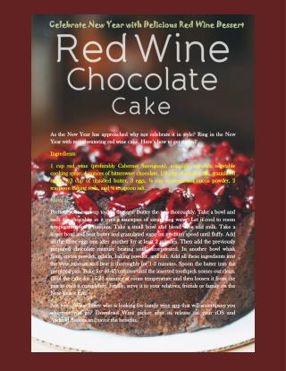 Celebrate New Year with Delicious Red Wine Dessert Dessert!