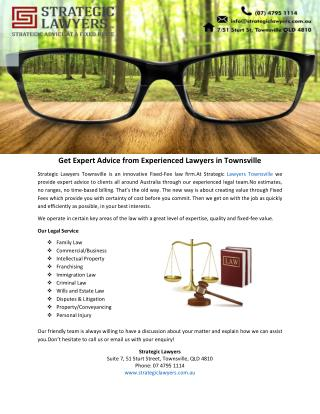 Get Expert Advice from Experienced Lawyers in Townsville