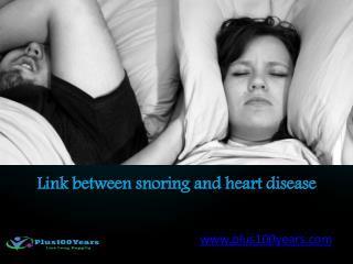 What is the link between snoring and heart disease