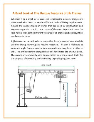 Jib Crane with Excellent Performance