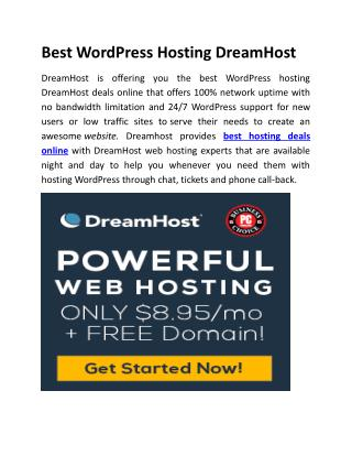 Best WordPress Hosting DreamHost