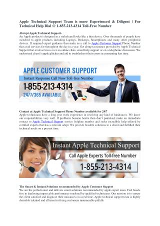 Apple Technical Support Phone NUmber 1-855-213-4314