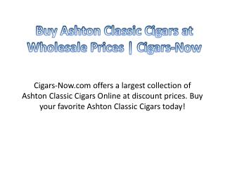 Buy Ashton Classic Cigars at Wholesale Prices