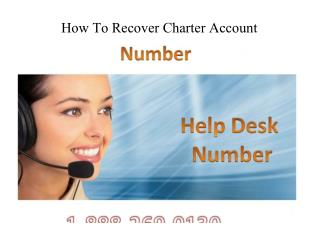 How To Recover Charter Account?