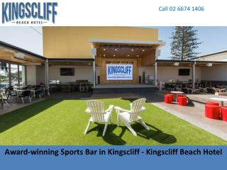 Award-winning Sports Bar in Kingscliff - Kingscliff Beach Hotel