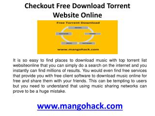 Checkout Free download torrent website online