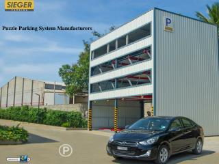 Puzzle Car Parking System Manufacturers