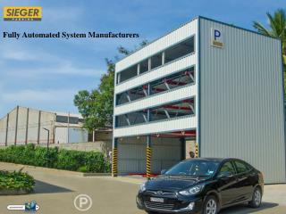 Fully Automated Parking Manufacturers in India