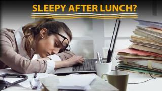 Why do we feel sleepy after lunch