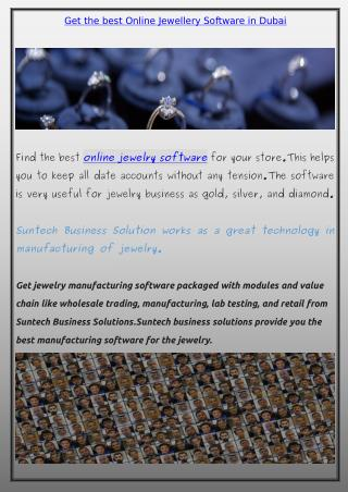 Online Jewelry Software